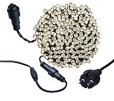 Новогодняя гирлянда 1000 LED, Длина 67m, Белый теплый свет,Кабель 2,2 мм