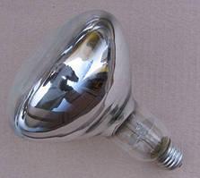 Лампа ИКЗ 250 Вт Е27 (инфракрасная зеркальная лампа белая колба, Калашниково)