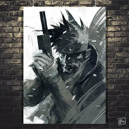 "Постер ""Metal Gear. Солид Снейк (Solid Snake). Минималистичный"". MGS. Размер 60x43см (A2). Глянцевая бумага, фото 2"