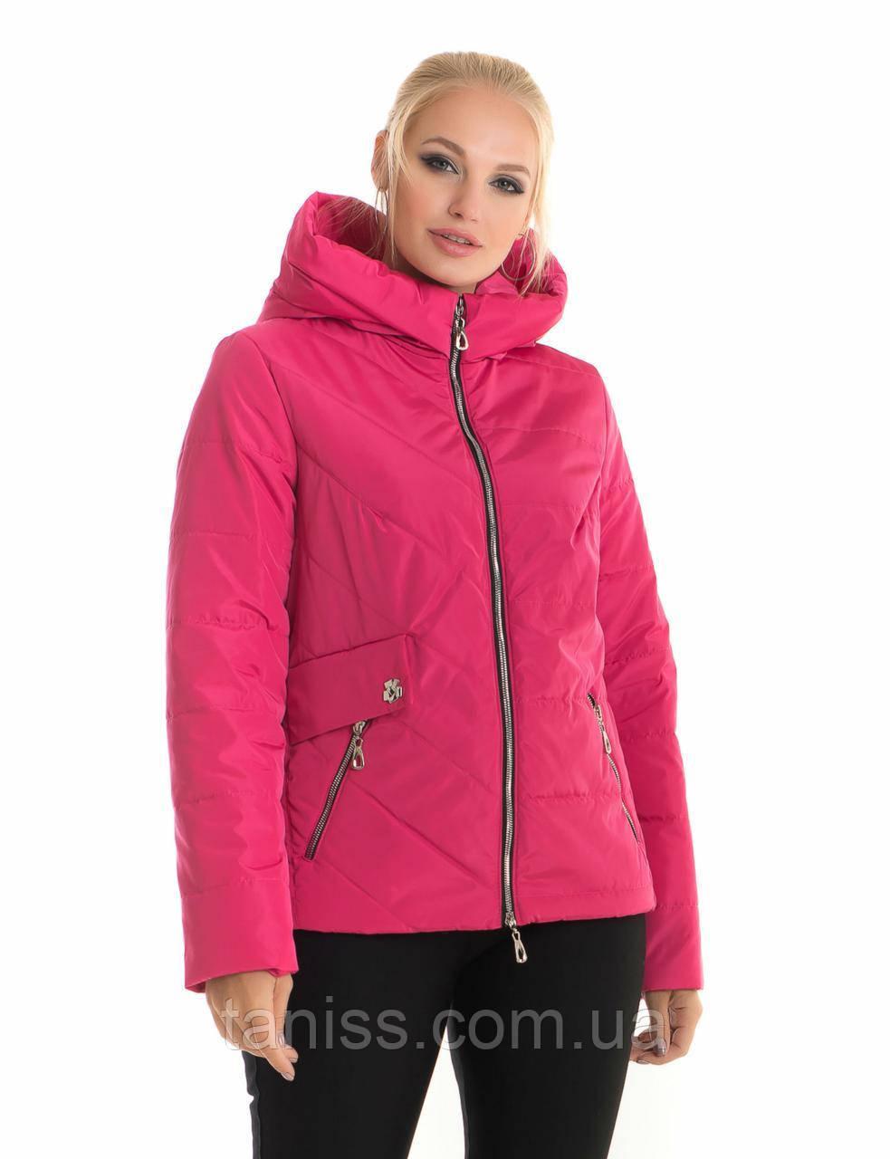 Молодіжна, весняна, демісезонна куртка з капюшоном, розмір з 42 по 56, малина(65)