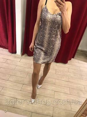 Женское платье нарядное в паетки  Италия, фото 2