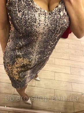 Женское платье нарядное в паетки  Италия, фото 3