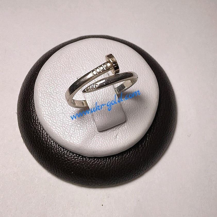 Кольцо серебряное 925 пробы с напаяной золотой