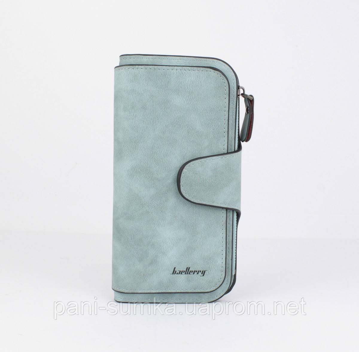 Вместительный женский кошелек Baellerry 843 голубой