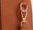 Трендовая женская сумка JingPin 4в1 Коричневая (сумка + клатч + кошелёк косметичка + визитница) 01062, фото 6
