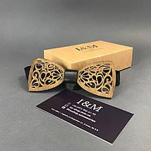 Галстук-бабочка I&M Craft из дерева с узорами (011214)