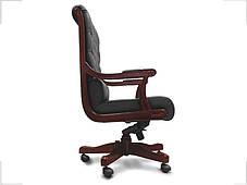 Кресло Сорренто Кожа Люкс Комбинированная Черная (Диал ТМ), фото 3
