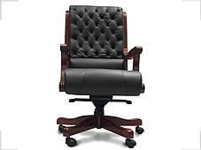 Кресло Сорренто Кожа Люкс Комбинированная Черная (Диал ТМ), фото 2