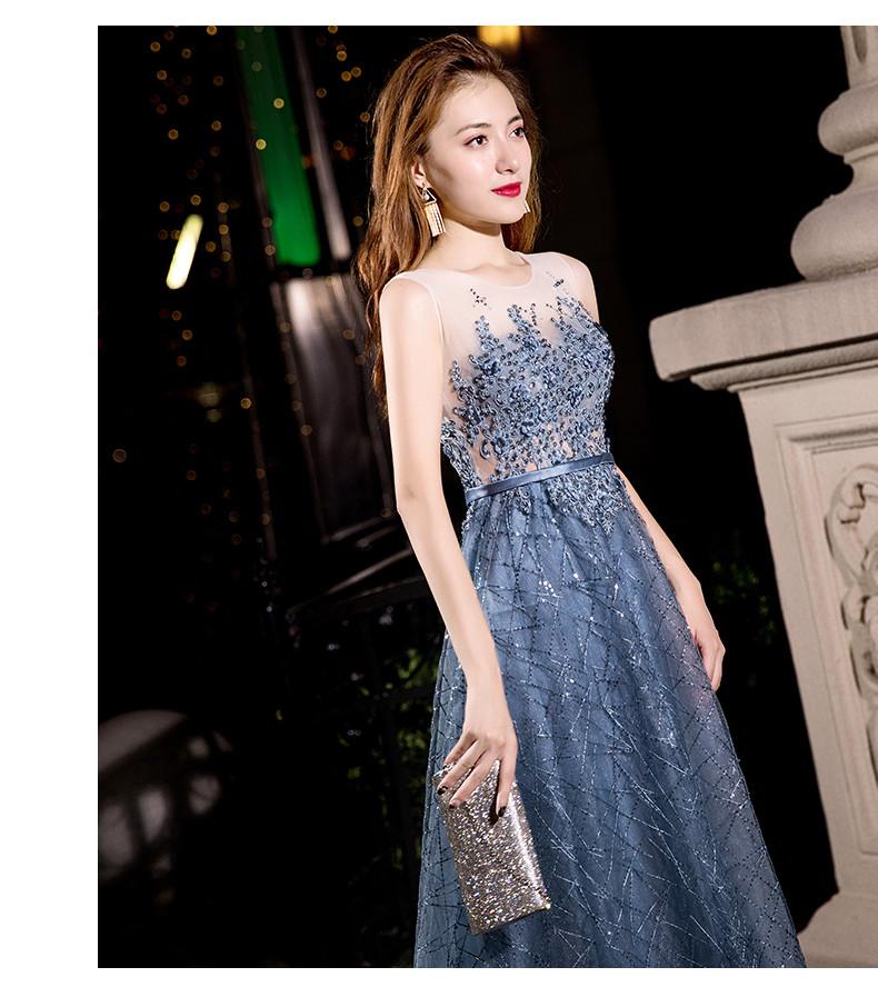 b66a4622a4f3c2d Голубое Вечернее платье.Выпускное платье в пайетках. Платье с  блестками.Вечірня сукня.