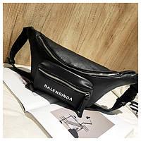 Женская поясная сумка бананка черная, фото 1