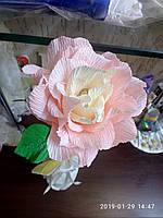 "Цветы из бумаги ""роза розовая"""