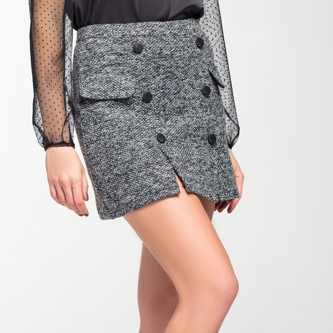 """Стильная мини юбка из теплого трикотажа """"Альма"""""""