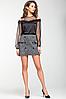 """Стильная мини юбка из теплого трикотажа """"Альма"""", фото 2"""