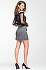 """Стильная мини юбка из теплого трикотажа """"Альма"""", фото 3"""