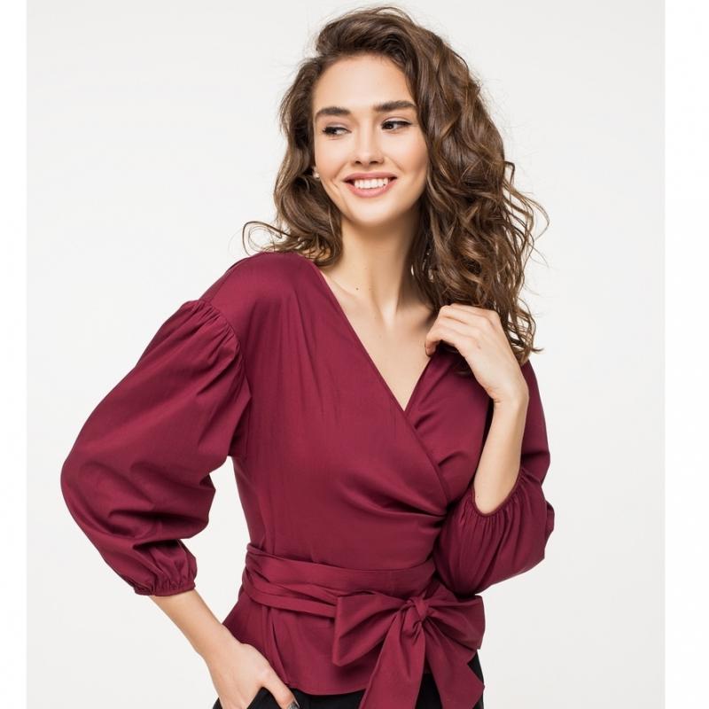 """Женская блузка с объемными рукавами """"Вольст"""""""