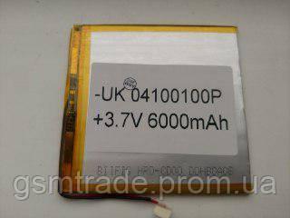 Аккумулятор 04100100 для China (Li-ion 3.7В 6000мА·ч), (100*100*4 мм)