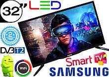 "SmartTV телевизор Samsung 32"" 4K UHDTV,LED, IPTV, Android, T2, WIFI, USB"