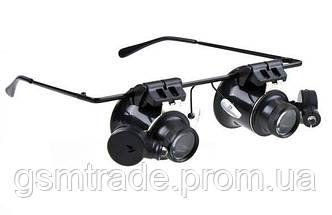 Очки бинокуляры с линзой 20x c LED подсветкой NO.9892 A-II
