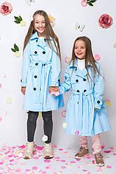 Детский плащ демисезонный для девочки pl-1, размеры 122-152