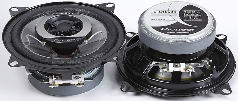 Автомобильные колонки Pioneer TS-1696 max 350 wдинамики в машину