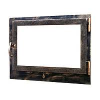 Дверь камина НСК Ветка 550*550