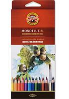 Карандаши акварельные Koh-i-Noor (Кохинор) Mondeluz 24 цвета