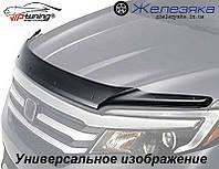 Дефлектор капота (мухобойка) Peugeot Boxer 2014 (с заходом на фары) (Vip Tuning)