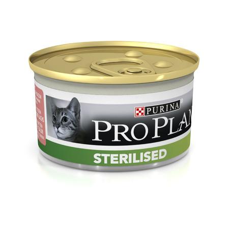 Влажный корм для котов Pro Plan (Про План) Sterilised  24х85г с лососем для кастрированных котов