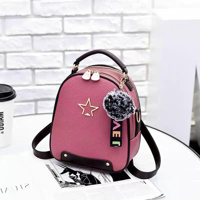 b214ac368fbf Женский рюкзак, экокожа PU (розовый) - купить по лучшей цене в ...