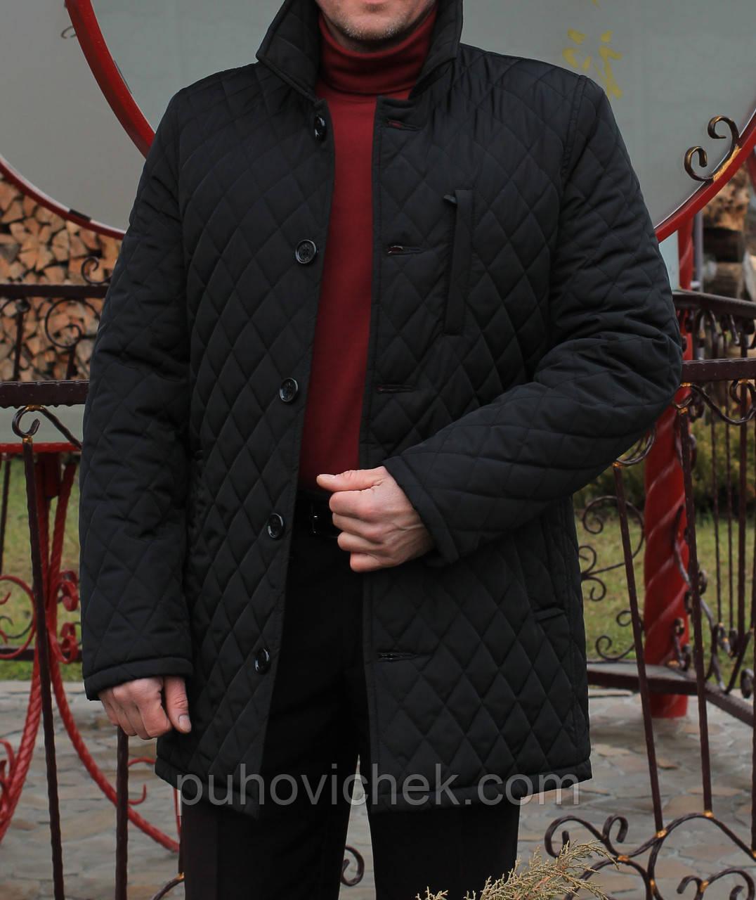 Удлиненная куртка мужская демисезонная