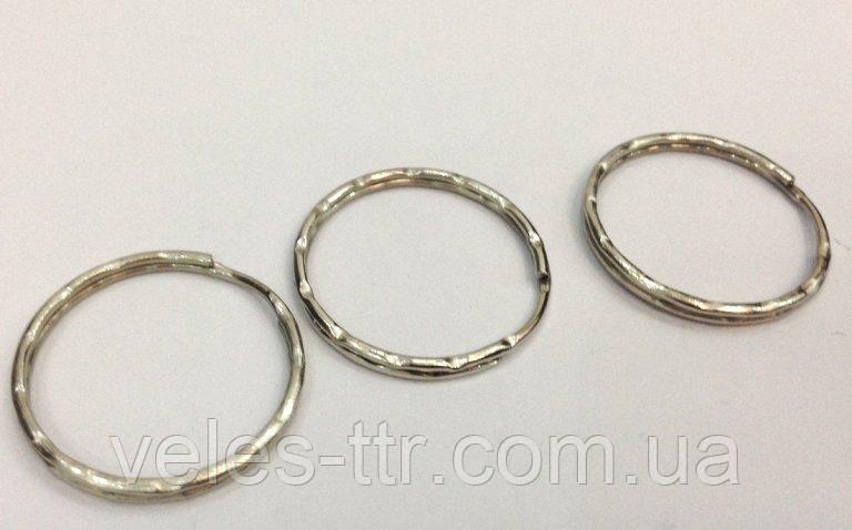 Кольцо заводное рифленое сталь 25 мм для ключей