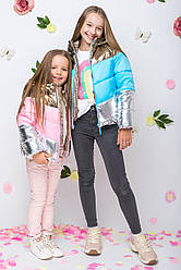 Детская демисезонная куртка для девочки vkd11, размеры 110-140