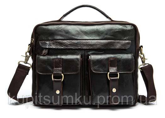Стильный Портфель С Натуральной Кожи ZEFIR IV5468GL Темно-коричневый