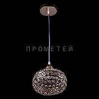 Хрустальный подвес на 1 лампочку (золото)  P5-E1536/1H/FG