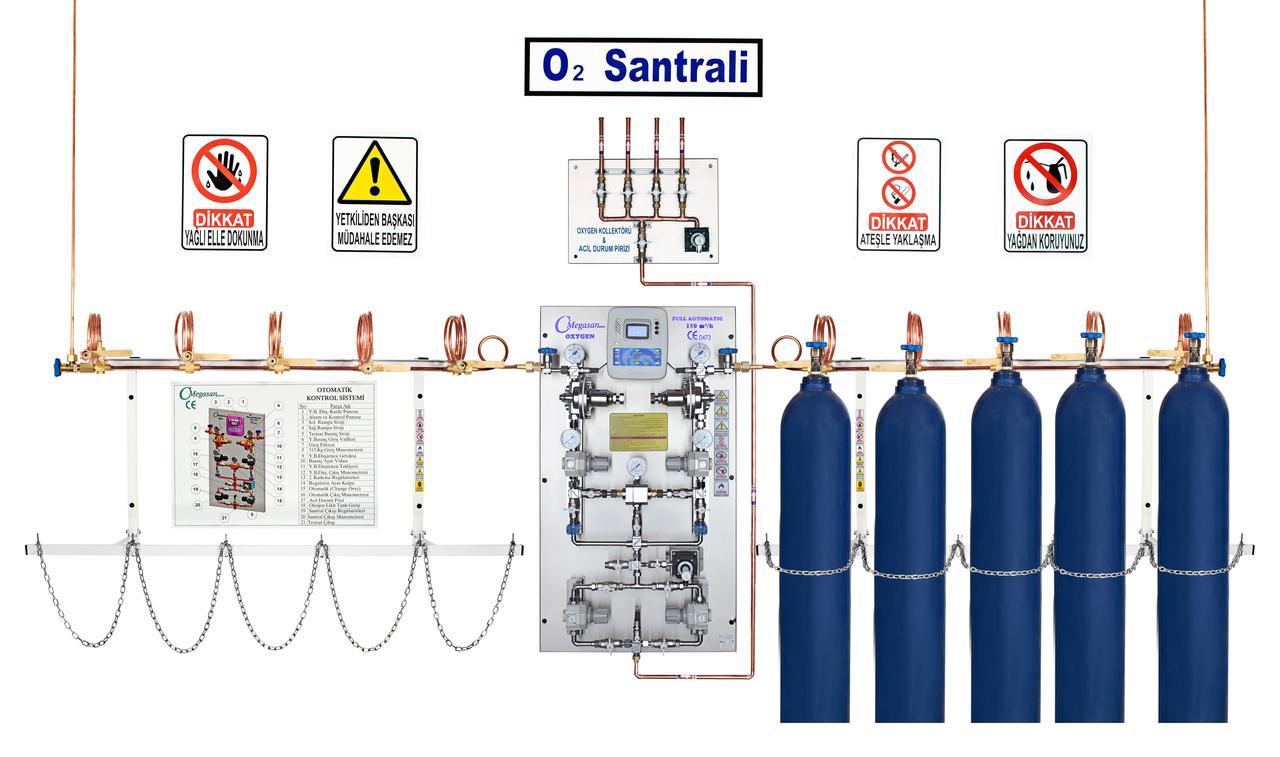 Баллонная рампа кислородная (О2)