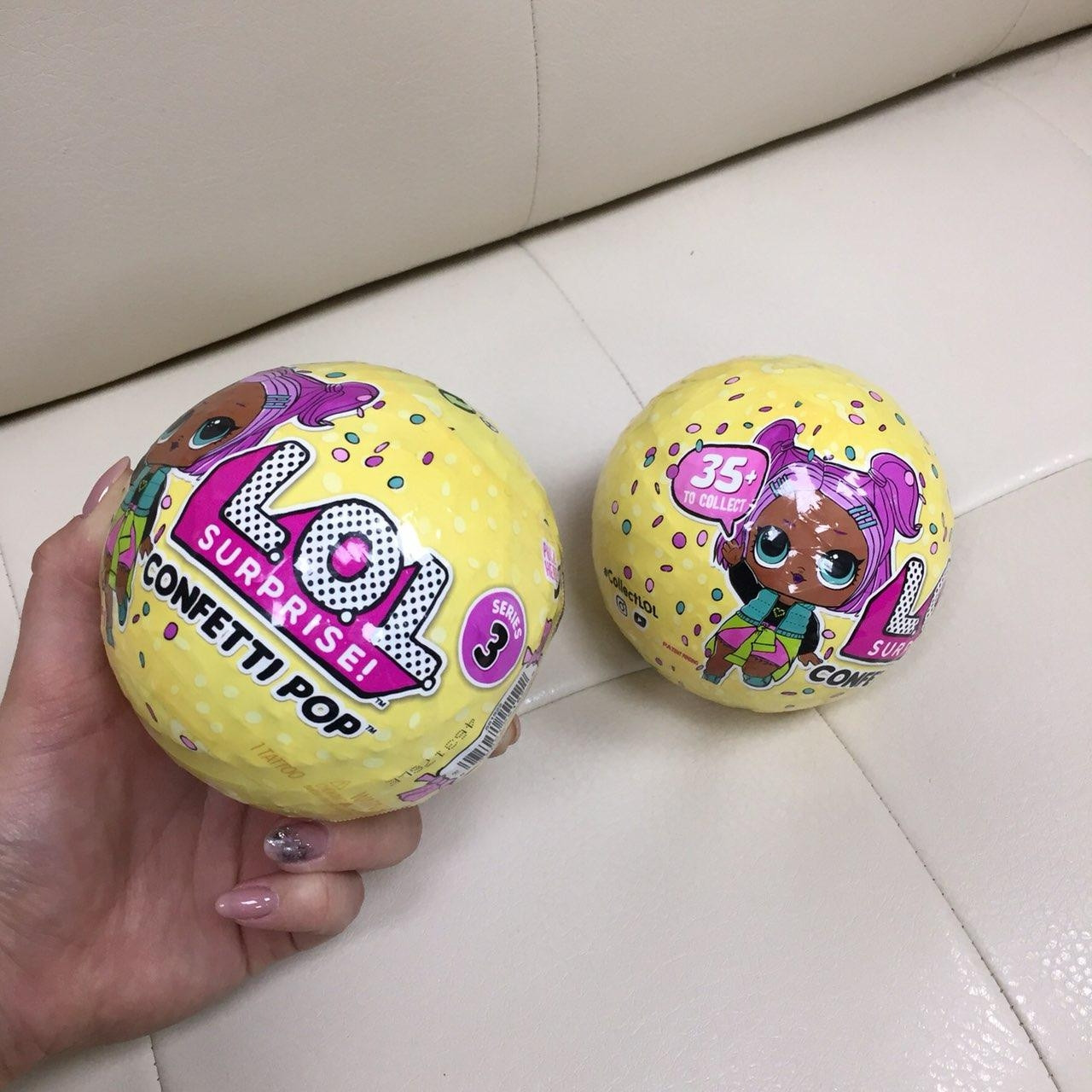 Оригинал Игрушка шар LoL confetti pop surprise 3 серия 35+ кукла лол