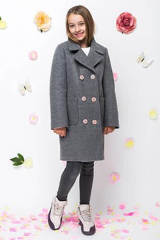 Детское пальто демисезонное для девочки vpd-7, размеры 122-152, фото 2