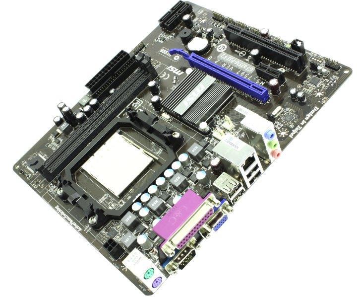 Материнская плата комплект бу MSI GF615M-P33 V2 /Socket AM3 /AMD Athlon II X3 425 / кулер, фото 1