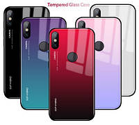 TPU+Glass чехол градиент для Xiaomi Mi A2 / Mi 6X (Разные цвета)