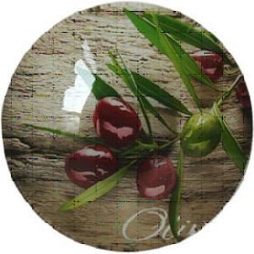 Миска стекл. 178мм круглая глубокая Ветка оливы