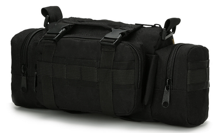 Тактична універсальна поясна, наплічна сумка TacticBag , Чорна