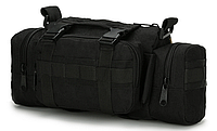Тактична універсальна поясна, наплічна сумка TacticBag , Чорна, фото 1