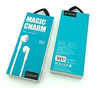 Гарнитура / Наушники с микрофоном Celebrat D4 Magic Charm White