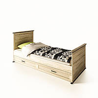 """Ліжко односпальне в дитячу  """"Палермо""""  від Світ меблів (дуб сонома)."""