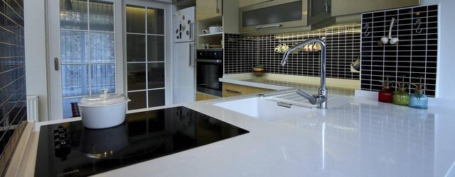 Кухонная столешница из кварца Belenco 1123 Perla White