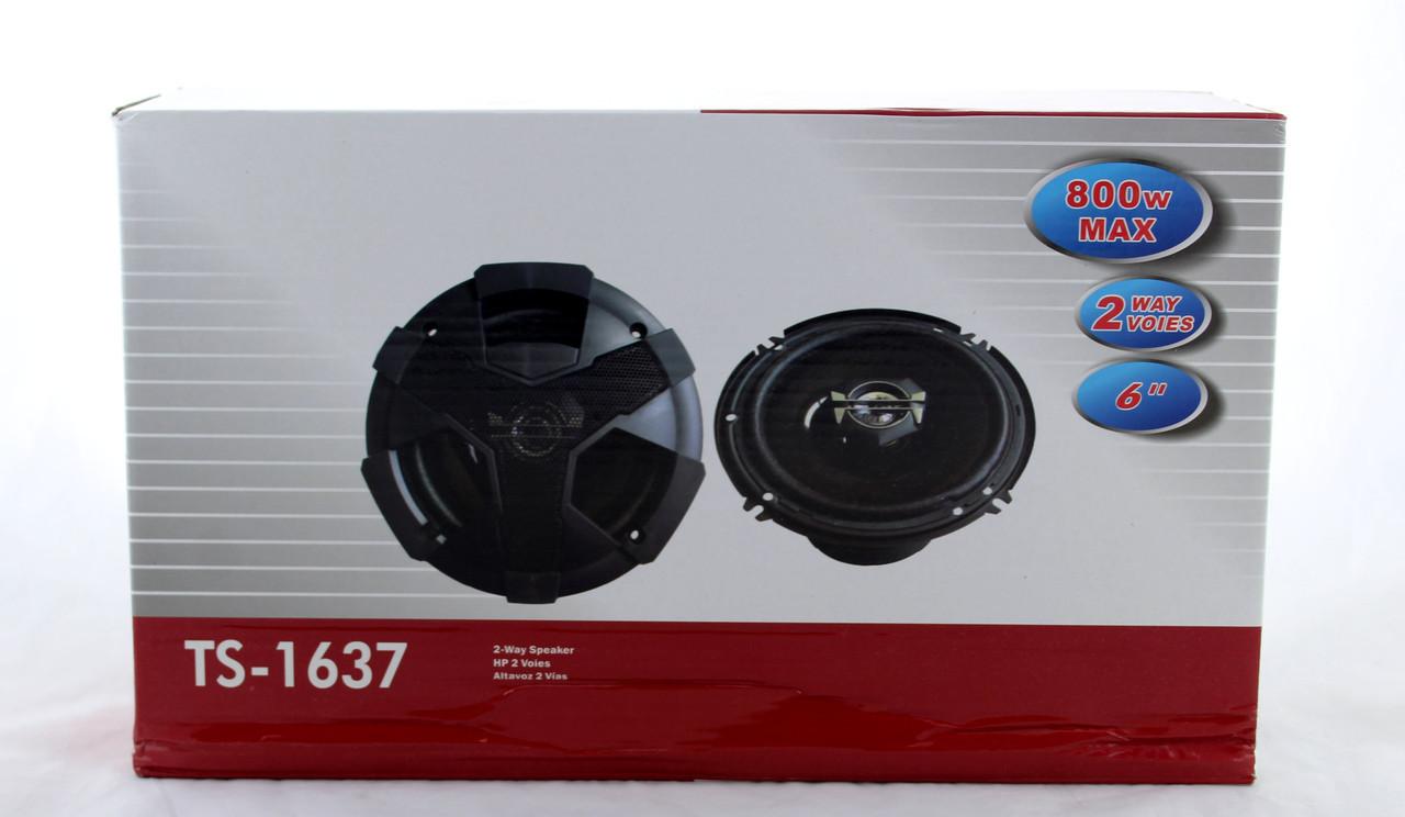 Автоколонки TS-1637 Автомобильная акустика колонки в авто динамики в машину круглые