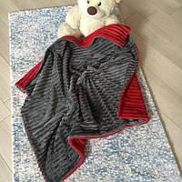 Детский плед плюшевый в коляску или кроватку