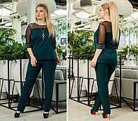 Брючный костюм женский Блуза и брюки Размер 48 50 52 54 56 58 60 62 В наличии 2 цвета, фото 1
