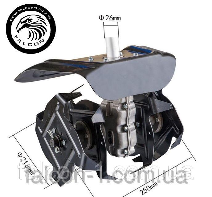 "Насадка ""культиватор"" на мотокосу, штанга D=26 мм, 9 шлицов"