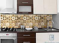 Кухонный фартук Орнамент 01 (декор для кухни, наклейка, плитка, виниловая наклейка на стену)